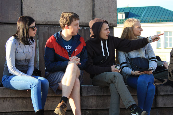 Nuorisoa Petroskoissa
