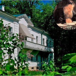 Leo Tolstoin kotikartanoa Jasnaja Poljanaa ympäröi kaunis puutarha ja puisto.