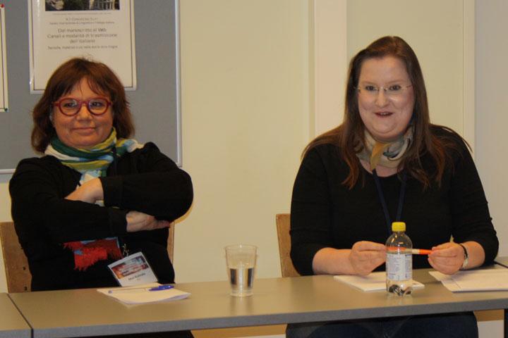 Helsingin yliopiston tutkijat Meri Kulmala ja Susan Ikonen.