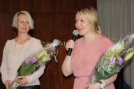 Suomi-Venäjä-Seuran 2. varapuheenjohtaja Sanna Iskanius ja puheenjohtaja Katri Kulmuni.