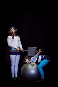 Aarni Pahajoki ja Elena Sadkova Five Stars Circus -esityksestä.